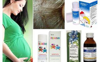 Чем лечить педикулез при беременности и кормлении ребенка