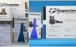 Ошейники и капли Инспектор от клещей: для собак и кошек