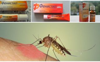 Гель Фенистил от укусов комаров: инструкция, отзывы и аналоги