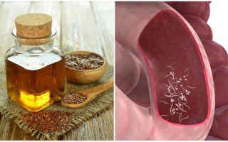 Льняное масло и семена льна от паразитов