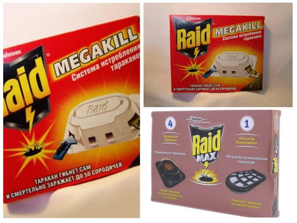 Raid от тараканов: ловушки, спрей, аэрозоль