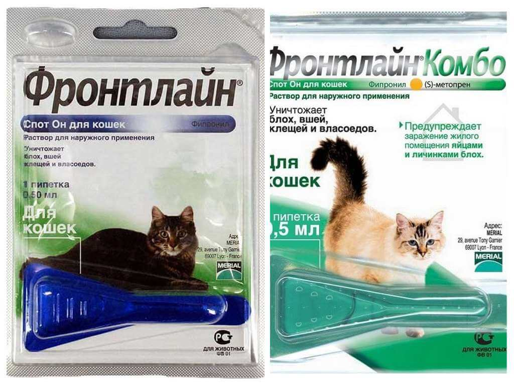 Капли Фронтлайн от блох для кошек