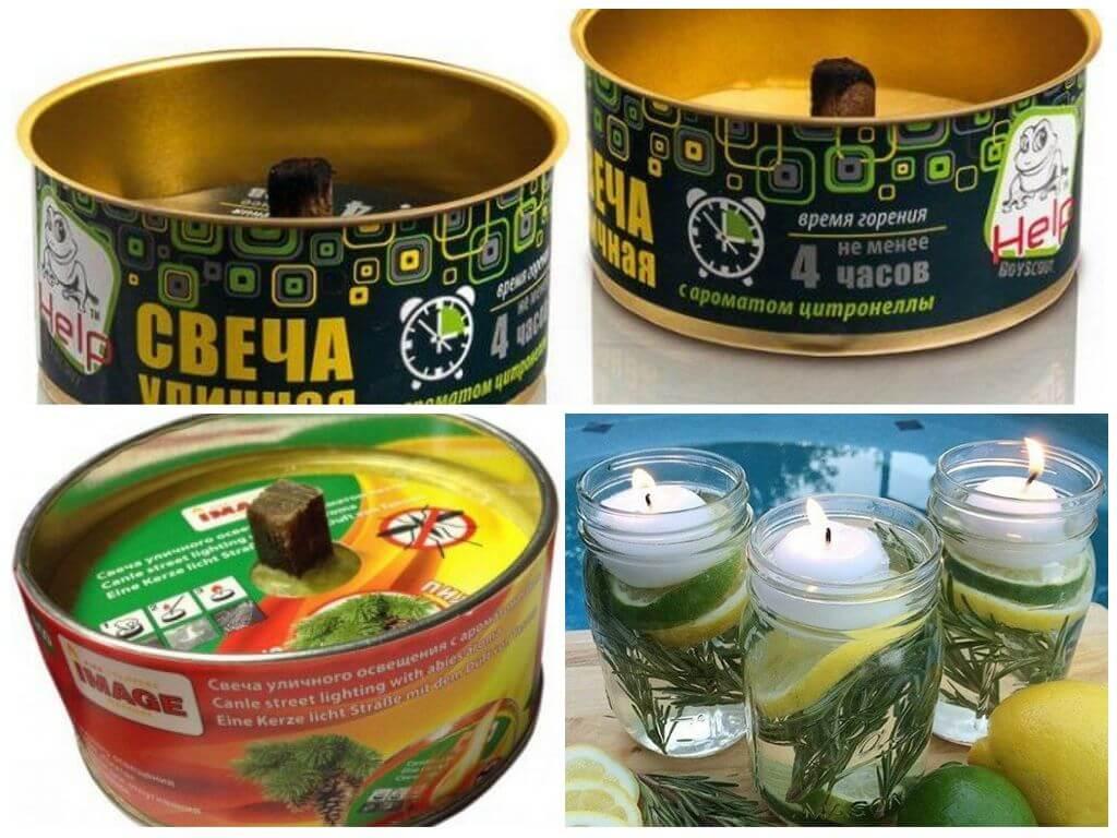 Свечи для защиты от насекомых