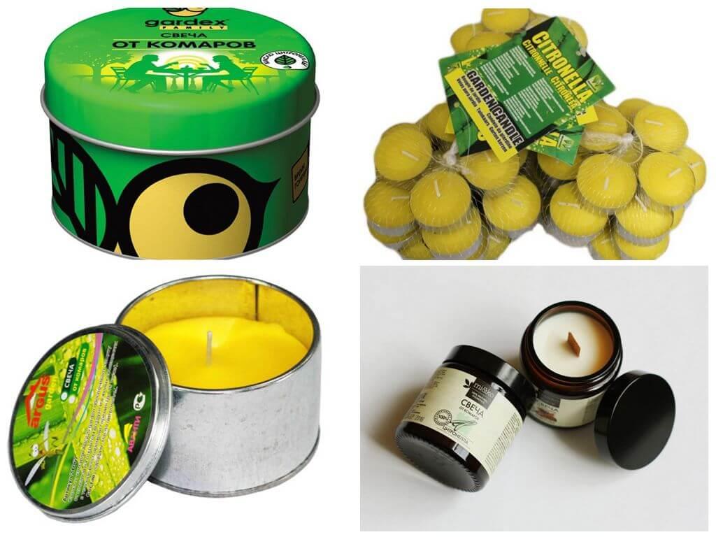 Популярные свечи от комаров
