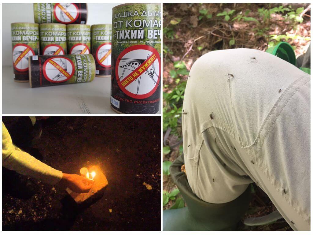 Дымовая шашка для защиты от летающих насекомых