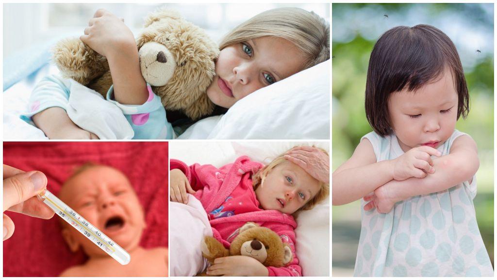 Температура от укусов комаров у взрослого и ребенка