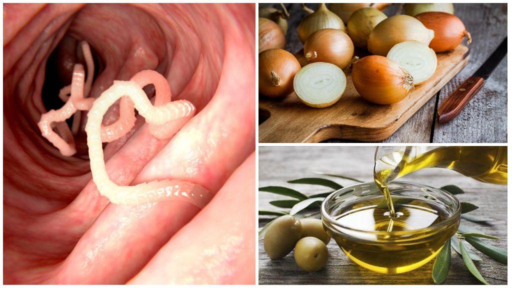 Лук и масло при энтеробиозе