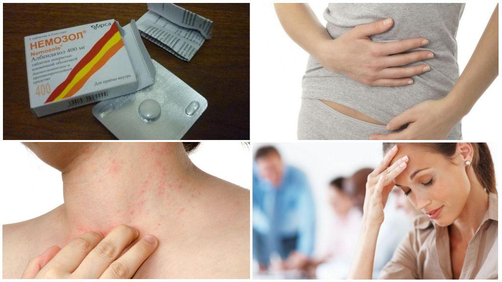 Побочные эффекты от приема Немозола