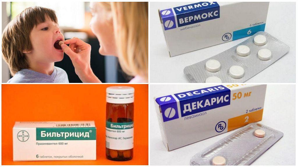 Таблетки от глистов для детей