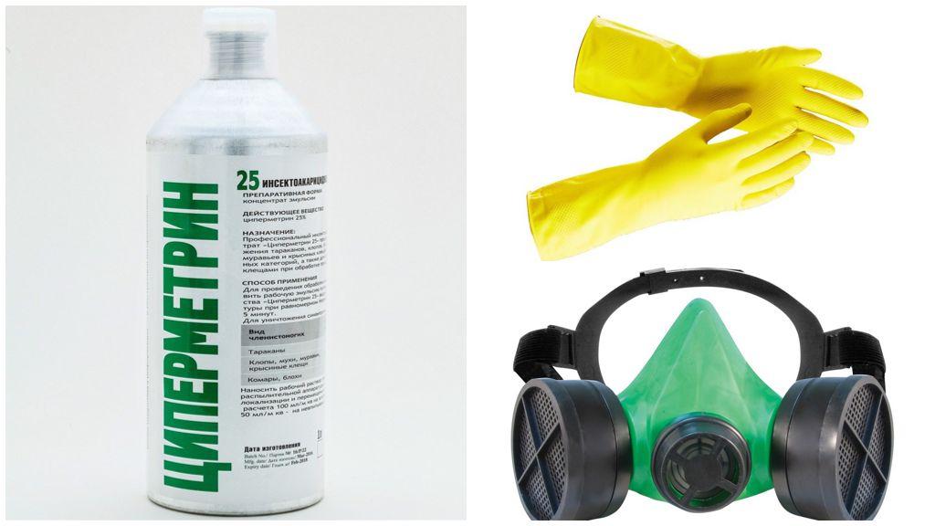 Меры предосторожности при обработке Циперметрином