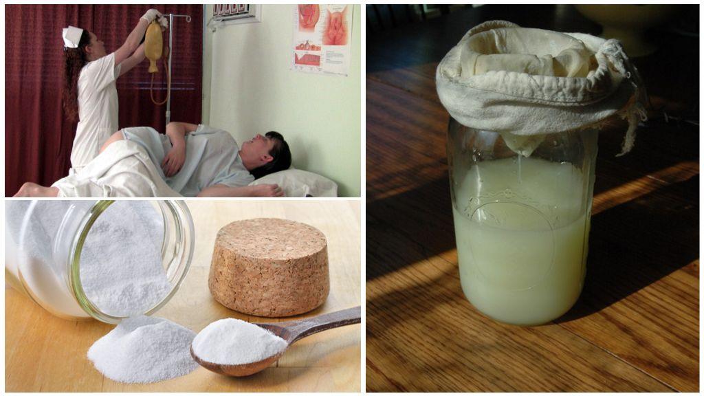 Клизма с содой и молочной сывороткой