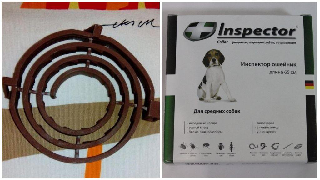 Ошейник Инспектор от клещей для собак