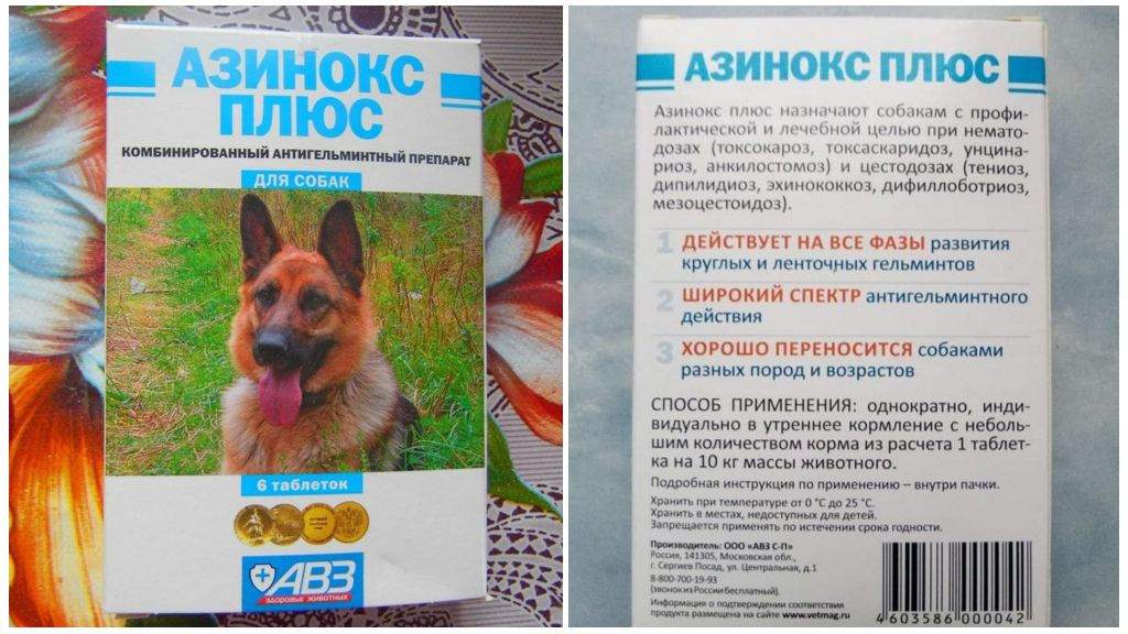"""Отзыв о универсальный антигельминтик авз """"азинокс плюс"""" для собак."""