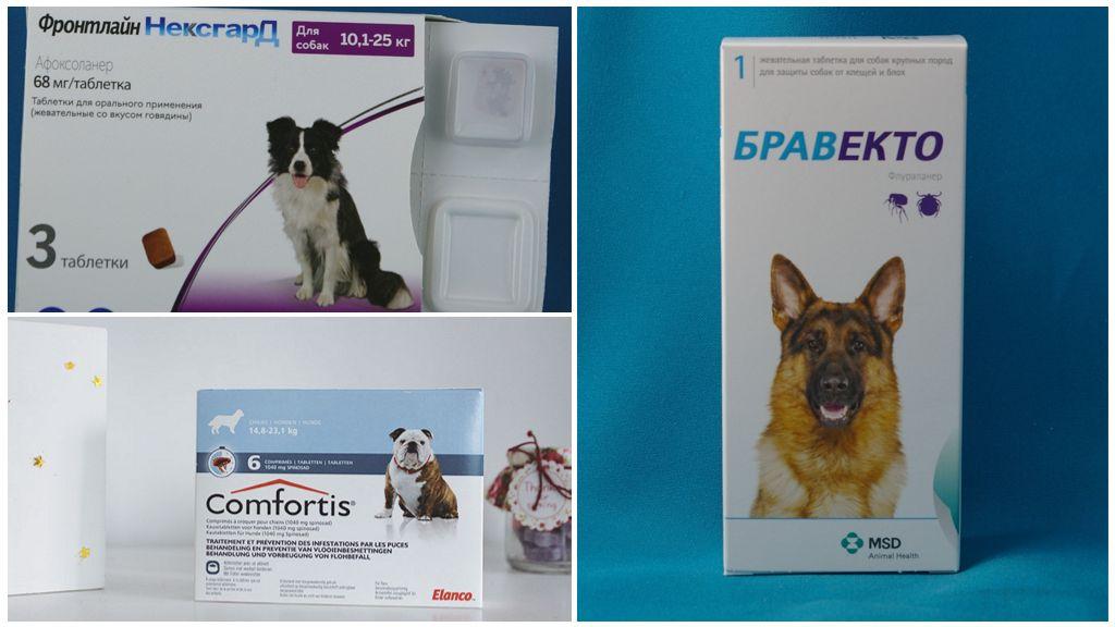 Таблетки от подкожных клещей для собак