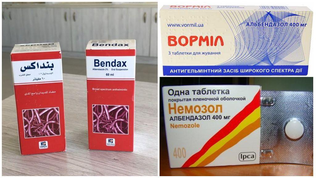 Таблетки от кишечной угрицы